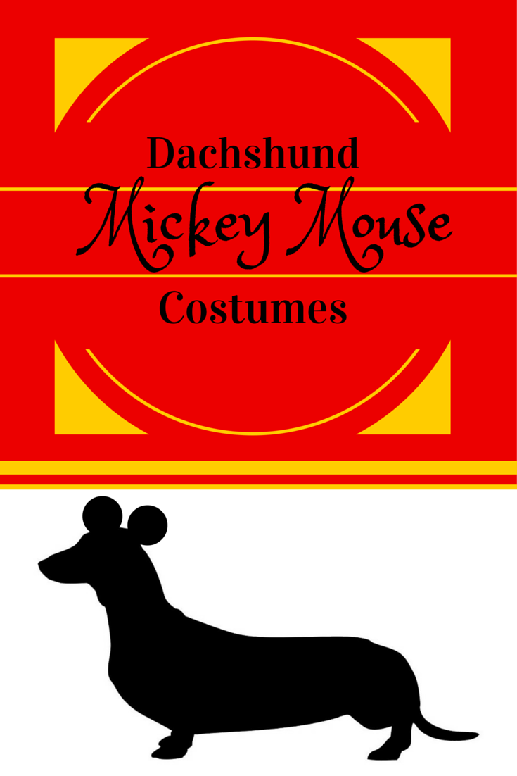 Dachshund Mickey Mouse Costume for Halloween